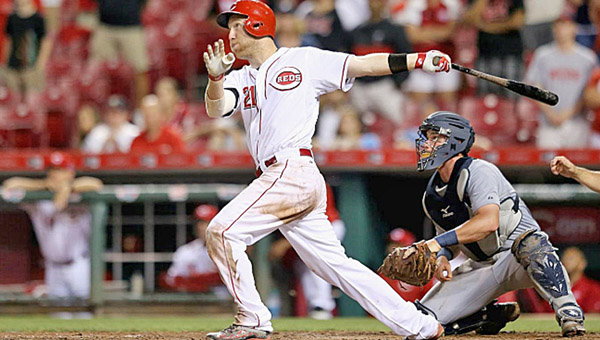 Cincinnati Reds' Todd Frazier belted two home runs on Wednesday including this grand slam with two outs in the 13th inning to beat the Detroit Tigers 8-4. Frazier now has 22 home runs on the season. (Courtesy of The Cincinnati Reds.com)