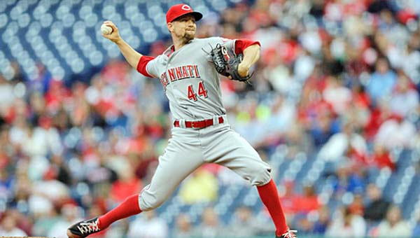 Cincinnati starting pitcher Mike Leake pitched 6.2 hitless innings and eight-plus scoreless innings on Tuesday, but the Reds blew a 4-0 lead and lost 5-4 to Philadelphia in 11 innings. (Courtesy of The Cincinnati Reds.com)