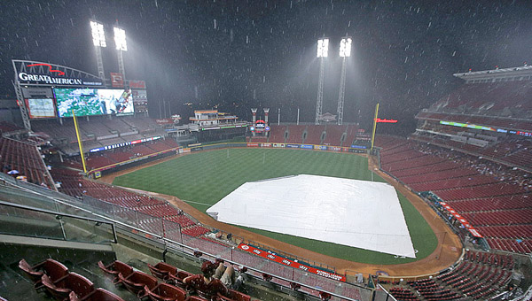 Rain washed out Thursday's game at Great American Ballpark between the Cincinnati Reds and Detroit Tigers. (Courtesy of The Cincinnati Reds.com)