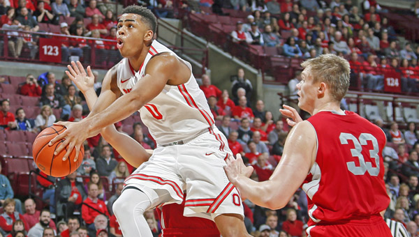 Former Ohio State Buckeyes freshman guard D'Angelo Russell was selected by the Los Angeles Lakers with the No. 2 pick in Thursday's NBA draft. (MCT Direct)