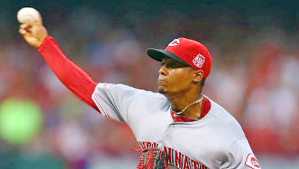 Cincinnati Reds' rookie starting pitcher Raisel Iglesias pitched well except for the fourth inning when he gave up a grand slam home run that led to the St. Louis Cardinals' 4-1 in on Monday. (Courtesy of The Cincinnati Reds.com)