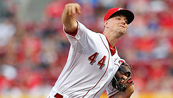 Cincinnati starting pitcher Mike Leake tossed six innings of four-hit baseball and drove in three runs as the Reds beat the Cleveland Indians 6-1 on Friday. (Courtesy of The CIncinnati Reds.com)