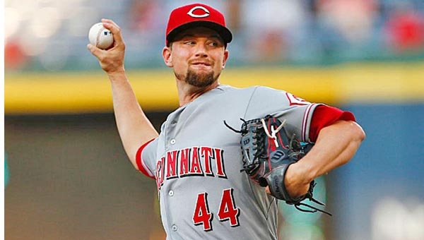 Cincinnati Reds starting pitcher Mike Leake was traded to the San Francisco Giants just after midnight on Friday morning. The Reds got two prospects in return for Leake who will become a free agent at the end of the season. (Photo Courtesy of the Cincinnati Reds.com)