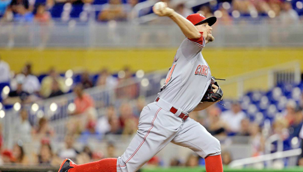 Cincinnati Reds' pitcher Mike Leake allowed just three hits and had a season-high 10 strikeouts in a 1-0 win over the Miami Marlins on Friday. (Courtesy of the Cincinnati Reds.com)