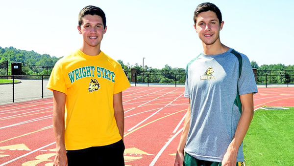 South Point senior distance runners and twin brothers Tanner (left) and Tyler Mathes have signed to run cross country and track at Wright State University. (Kent Sanborn of Southern Ohio Sports Photos)