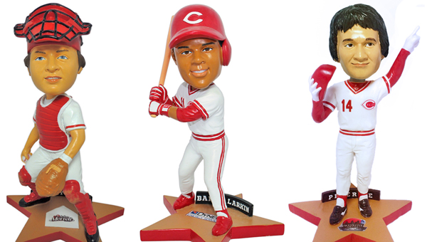 """The CIncinnati Reds will have Pete Rose bobblehead day at 1 p.m. on Saturday, Sept. 12, when they play St. Louis. The Rose bobblehead is the third in the """"Stars of the Queen City"""" bobblehead giveaway this season. (Photo Courtesy of The Cincinnati Reds)"""