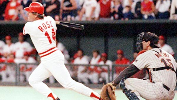 Cincinnati Reds' great Pete Rose had 4,256 hits, the most in the history of baseball. His hit total is among the records considered unbreakable. (Courtesy of The Cincinnati Reds.com)
