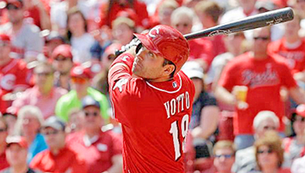 Cincinnati Reds' first baseman is the team's hottest hitter heading into the weekend series at Colorado. Votto reached base nine times during Wednesday's doubleheader against Chicago to make him the first Reds player to accomplish the feat since Pete Rose did it July 2, 1976. (Courtesy of The Cincinnati Reds.com)
