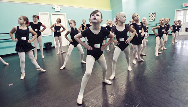 Maria Whaley with the Ashland Regional Dance Theatre, of Ashland, Ky., performs auditions for the upcoming Nutcracker ballet.