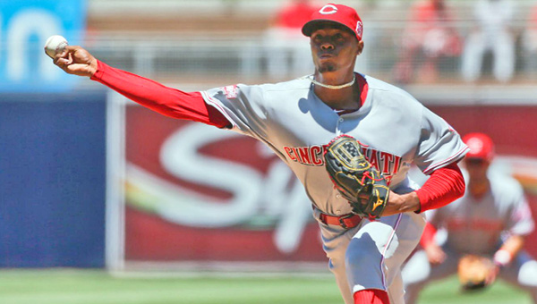 Cincinnati Reds' pitcher Raisel Iglesias gave up three runs in the first inning, then retired the final 16 batters he faced in a 7-3 win over the San Diego Padres on Wednesday. Joey Votto had three hits including his 20th home run. (Photo Courtesy of The Cincinnati Reds)