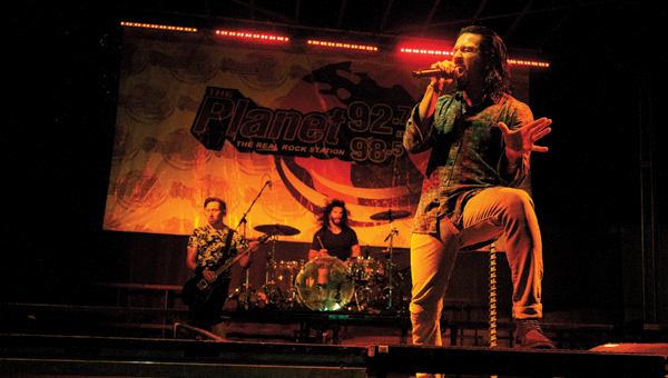 Pop Evil performs during the 2015 Rally on the River in downtown Ironton.