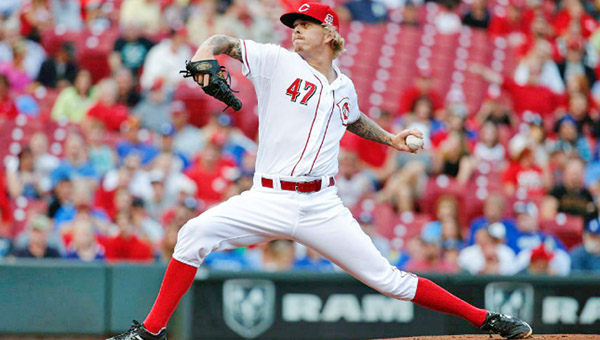Cincinnati Reds' starting pitcher John Lamb was roughed up early in a 5-1 loss to the Los Angeles Dodgers on Tuesday. (Photo Courtesy of The Cincinnati Reds.com)