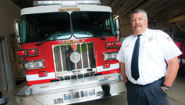 "On Monday Mike ""Moose"" Mahlmeister was sworn in as chief of the Ironton Fire Department."