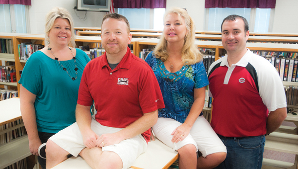 Pictured, left to right, Monica Mahlmeister, Derek Parsons, Kim Ritchie and Dean Mader have participated in the Landmark Program Fellowship sponsored through the Gallia-Vinton Educational Service Center.