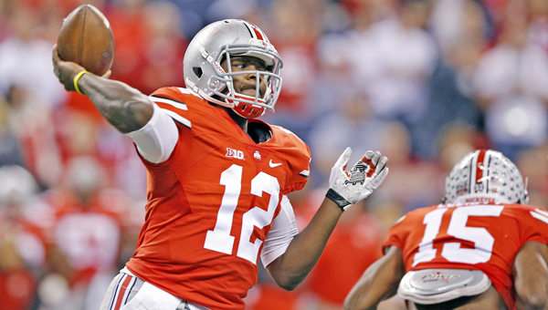 Ohio State quarterback Cardale Jones will look to give a better performance for the Buckeyes this week. Ohio State head coach Urban Meyer is still unsure if he will start Jones or J.T. Barrett. (MCT Direct Photo)