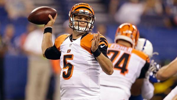 Cincinnati Bengals' backup quarterback A.J. McCarron had an impressive performance in a 9-6 exhibition win over the Indianapolis Colts on Thursday. (Photo Courtesy of The Cincinnati Bengals.com)