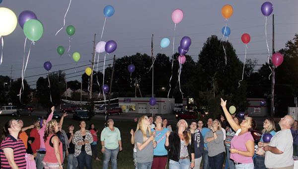 Balloons are released to remember those who have lost battles with drug addictions.