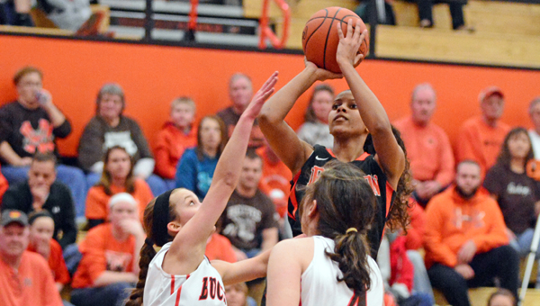 Ironton Lady Fighting Tigers' three-time All-Ohio guard Lexie Barrier has given a verbal commitment to attend James Madison University. (Kent Sanborn of Southern Ohio Sports Photos)