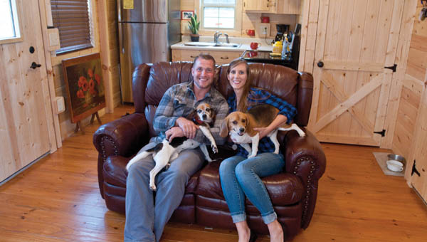 The two, who are originally from Fayette County, West Virginia, recently moved from their 1,500-square-foot home in Tampa, Florida, into a home a fifth of that size on a farm in          Vanceburg, Kentucky.