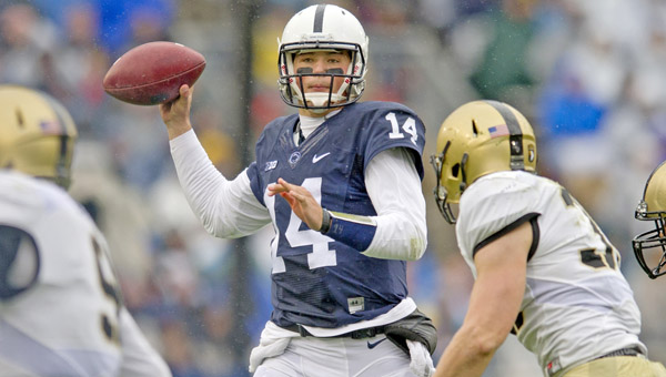 Quarterback Christian Hackenberg (14) is the key to the Penn State offense when they face the Ohio State Buckeyes Saturday night in Columbus. (MCT Direct Photos)
