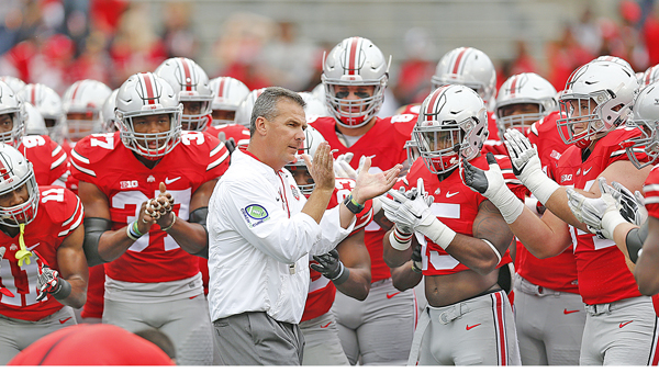 Ohio State Buckeyes' head coach Urban Meyer said he just wants his team to keep getting better each week, something he believes his unbeaten team has accomplished. The Buckeyes play at Rutgers on Saturday night. (MCT Direct Photos)