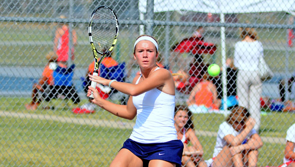 South Point Lady Pointers' senior tennis standout Madison Riley is headed to her third straight state tournament. (Kent Sanborn of Southern Ohio Sports Photos)