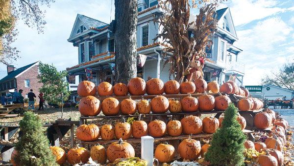 The Kenova, West Virginia, Pumpkin House, owned by Ric Griffith, is located at 748 Beech St, and will be on display through early November.