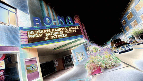 Throughout October the Ro-Na will play host to Dr. Dekay's Haunted House.