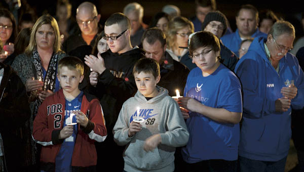 Torrence Linthicum was remembered Thursday evening during a candlelight vigil.