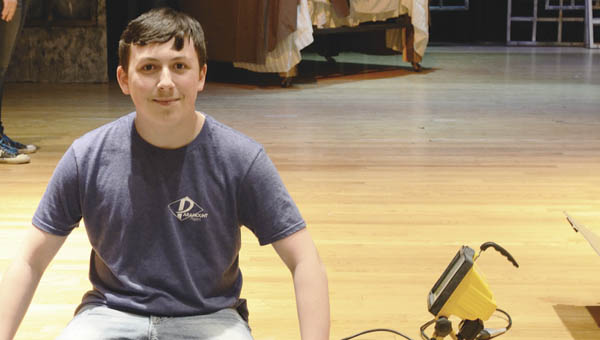 """Marshall Gibbs, a tenth grader at South Point High School is playing Peter Cratchit in upcoming performances of """"A Christmas Carol"""" at J.B. Sowards Theatre at ACTC."""