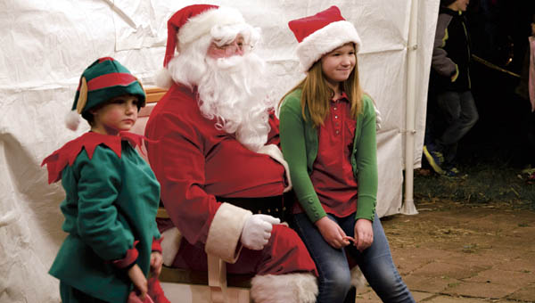 Santa Claus and helpers were on hand for the annual Christmas tree lighting event in Chesapeake on Thursday.