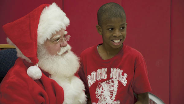 Students in the Lawrence County multi-category unit at Rock Hill were treated to a Christmas party by the Ironton Elks Lodge 127 and a visit from Santa Claus.