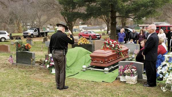 Friends, family, the community and law enforcement attend former police officer James Akers' funeral on Sunday.