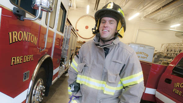 Joe Laber, with the Ironton Fire Department, graduated with honors at the Ohio Fire Academy.
