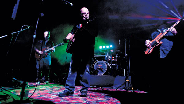 The band Genuine Remedy performs at the Ro-Na theatre in downtown Ironton Saturday as part of the Illumin8 event.