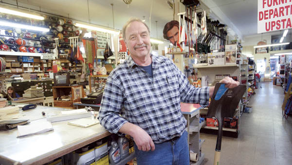 A face for the generations, Jim Hacker is celebrating the 90th anniversary of Iron City Hardware in downtown Ironton.