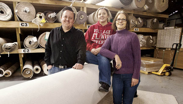 The Fowlers will celebrate 40 years of business this year at Village Floor Covering in South Point.