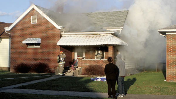 The fire is believed to have started in the living room of the home on South Seventh Street.