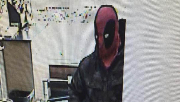 A photo of the South Point bank robbery suspect from a surveillance tape. The photo was uploaded to Facebook by the South Point Police Department.