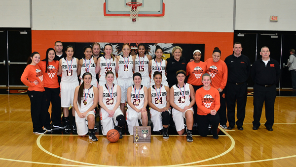 The Ironton Lady Fighting Tigers beat North Adams 49-36 on Saturday to win the Division III district basketball championship. Ironton now plays Alexander at 6:15 p.m on Wednesday in the regional semifinals at Logan High School. (Kent Sanborn of Southern Ohio Sports Photos.com)