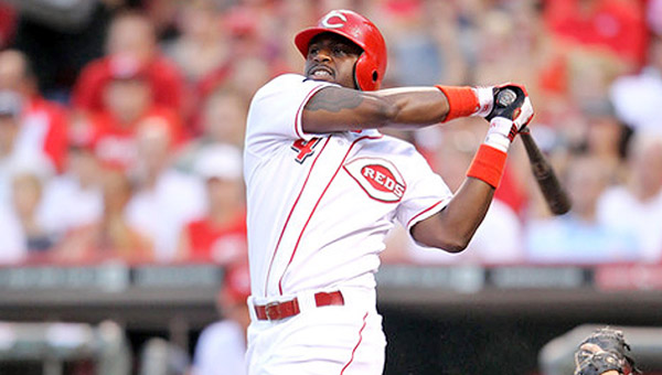 Reds' second baseman Brandon Phillips is happy to be in Cincinnati despite two offseason trade attempts that he blocked. (Courtesy of Cincinnati Reds.com)