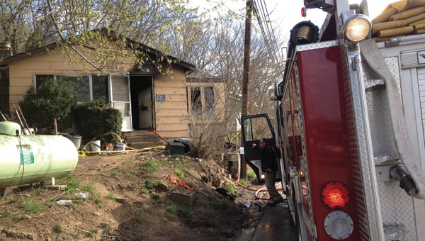 Crews work on the scene following a fire at 508 Rockwood Avenue.