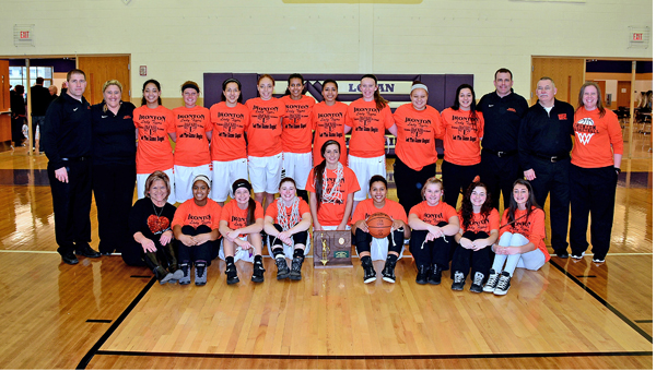 The Ironton Lady Fighting Tigers won the Division III regional championship on Saturday as they beat West Lafayette Ridgewood 46-43. Ironton will play in the state semifinals at 3 p.m. on Thursday. (Kent Sanborn of Southern Ohio Sports Photos.com)