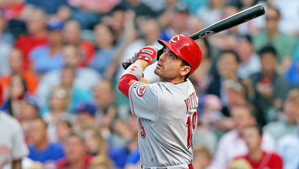Cincinnati Reds' first baseman Joey Votto had two hits in the spring opener on Tuesday. The Reds beat the Cleveland Indians 6-5. (MCT Direct Photos)