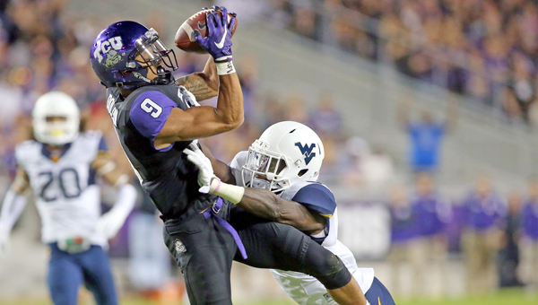 TCU wide receiver Josh Doctson could join TCU alumnus and Cincinnati quarterback Andy Dalton as the Bengals first round draft pick. (MCT Direct Photos)