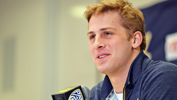 Cal quarterback Jared Goff is expected to be the top pick in the NFL draft first round to be held Thursday at 8 p.m. (Kristopher Skinner/Bay Area News Group/TNS)