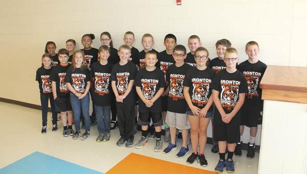 The 2015-2016 Ironton Elementary School fifth grade Matheletes team.