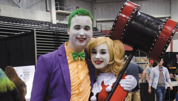 Ryan Nutt and Irene Javier were dressed as DC Comics' Joker and Harley Quinn at Tricon on Saturday.