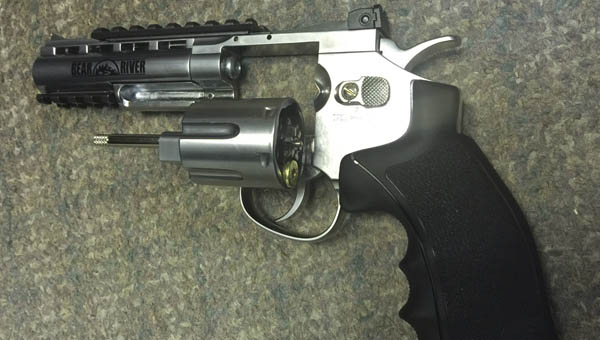 A BB/pellet gun found at the Ironton riverbank during clean up day on May 7.