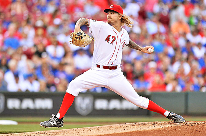 Cincinnati Reds' John Lamb allowed six hits and two runs over six innings that included seven strikeouts and a walk  against the Chicago Cubs on Tuesday. Lamb and the bullpen pitched well for 14 innings before the Cubs scored five runs to win 7-2. (Courtesy of the Cincinnati Reds.com/Jamie Sabau - Getty Images)